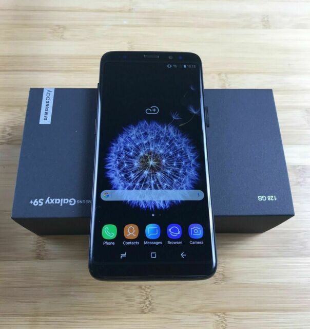 Unlocked Samsung Galaxy S9 Plus SM-G965U-Black 128GB-Unlocked Factory New