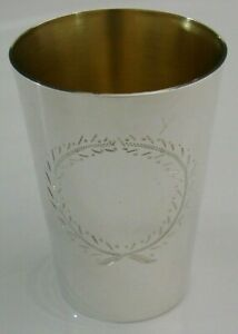 SUPERB-GOOD-SIZE-ENGLISH-SOLID-SILVER-BEAKER-CUP-GEORGIAN-STYLE-LONDON-1978-79g