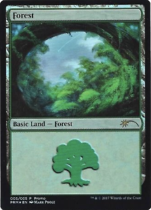 2x Forest FOIL Land NM//M MTG Gift Pack 2017 Mark Poole