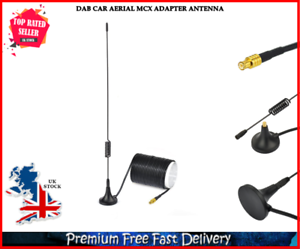 DAB Car Aerial Adapter 5dbi DAB Amplified MCX Aerial Universal Roof Mount UK - London, United Kingdom - DAB Car Aerial Adapter 5dbi DAB Amplified MCX Aerial Universal Roof Mount UK - London, United Kingdom