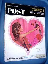 SATURDAY EVENING POST MAGAZINE VALENTINE COVER, FEBRUARY 13,1965 ISSUE. !