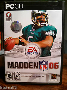 Details about Madden NFL 06 PC CD Football Video Game US version 3 Disc  Full License EUC