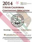 2014 5 Hour California Continuing Education: Ltpa English by Kristeena S Lopez Ma (Paperback / softback, 2014)