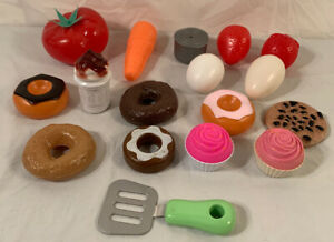 Vintage Plastic Lot Of 17 Pieces Toy Play Food And Kitchen Accessories Ebay