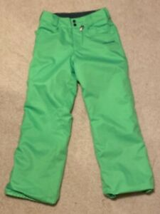 Volcom-Women-Let-it-Storm-Snowboard-Pants-Large-L-Neon-Green