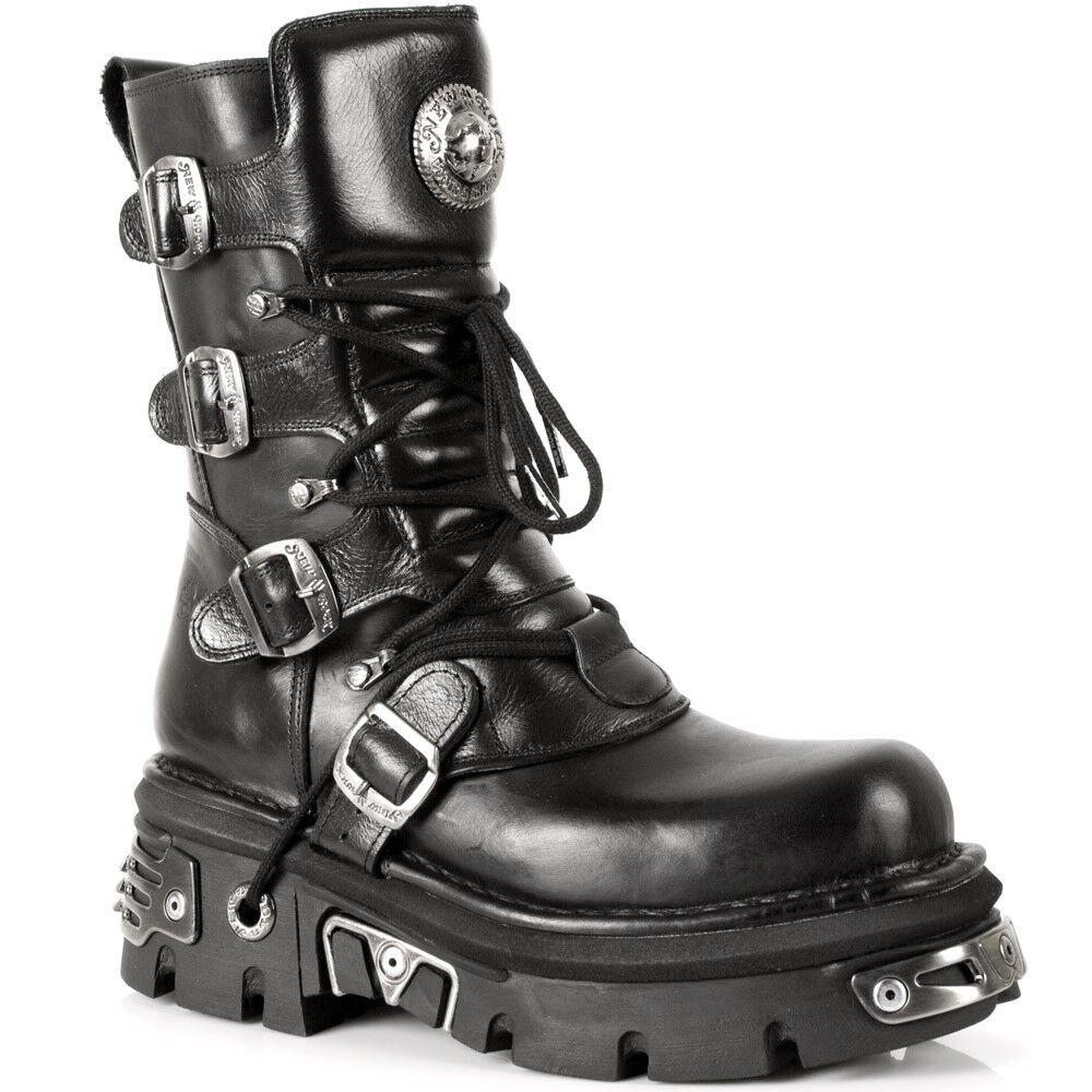 New Rock Schuhe schuhe Stiefel Stiefel M.373-S4 Bikerstiefel Gothic NEU