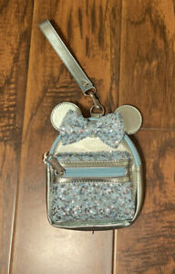 Disney-Parks-Loungefly-Arendelle-Aqua-Minnie-Mouse-Sequined-Mini-Backpack-Great