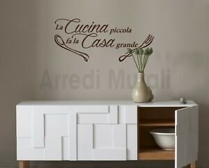 Decorazioni Da Muro.Dettagli Su Adesivi Murali Frase Cucina Decorazioni Da Parete Wall Stickers Arredo Ws1538
