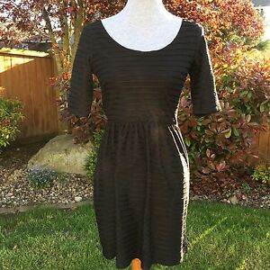 Gap XS Dress Fit Flare Skater Black Stripe NWT New Trendy Wide Scoop ... 4837ebc43