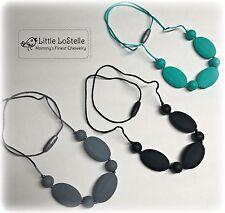 Nursing Breastfeeding Necklace Teething Jewelry Silicone Baby Teether Set of 3