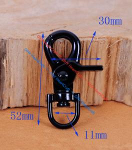 5pc Métal Noir Sac fermoirs homard Swivel Trigger Clip Snap Crochet Pour Sangle 11 mm