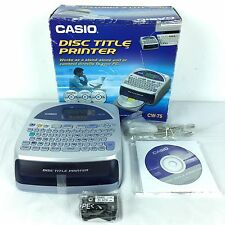 Casio CW-75 CD/DVD Thermal Printer with Qwerty Keyboard - NEW