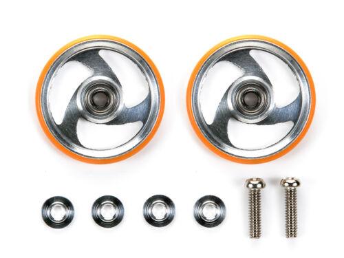 Orange Tamiya #95328-19mm Aluminum Rollers with Plastic Rings
