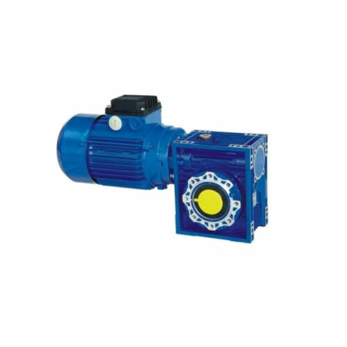 Single Phase 0.18kw Motor and Worm Gearbox 56 rpm output 14mm Hollow Bore 15Nm