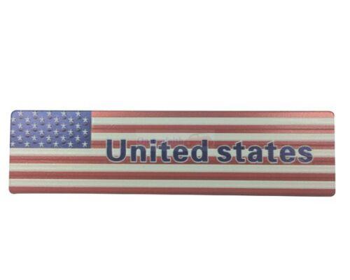USA America United States Flag Metal Rear Emblem Badge Decals Sticker Chrysler