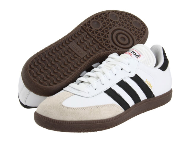 b0e0a69ab45 Mens Adidas Samba Classic White Athletic Indoor Soccer Shoe 772109 Size  6.5-13.5
