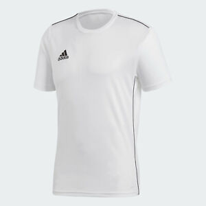 ???? adidas Men's Soccer Core 18 Training Jersey White Small NWT ...