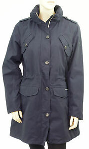 Parka-impermeable-legere-GAASTRA-bleu-femme-Trench-Ithaca-Navy-Taille-L-size