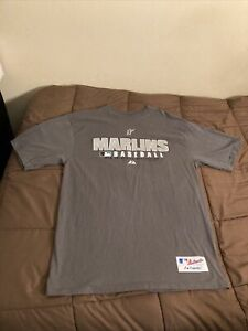 Florida Marlins MLB Authentic Collection Majestic Graphic T-Shirt Sz Medium 2009