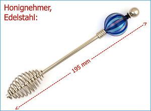 NEU-Honignehmer-Honigheber-Honigspirale-zum-beperlen-Edelstahl