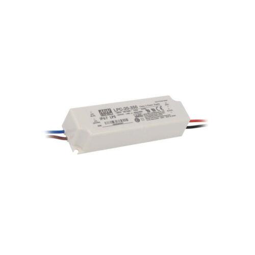 LPC-20-350 fuente de alimentación LED en modo conmutado 16.8W 9-48VDC 350mA 90-264VAC significa que nos
