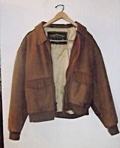 80s90s brown leather jacket