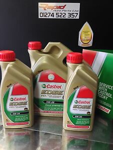 castrol edge genuine 5w 30 long life fully synthetic acea c3 vw bmw merc 6 ltrs ebay. Black Bedroom Furniture Sets. Home Design Ideas