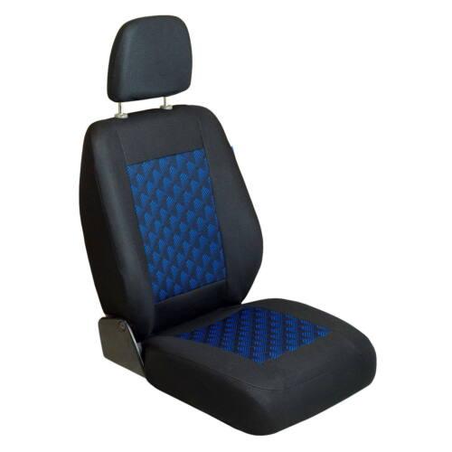 NERO-BLU 3d effetto Coprisedile RENAULT Trafic Anteriore sedile del conducente