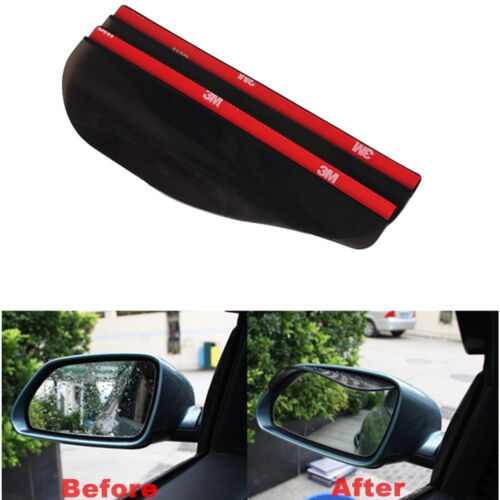 2x Car Truck Universal Rear View Side Mirror Water Rain//Snow Shield Shade Cover