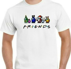 AMONG US FRIENDS T-SHIRT IMPOSTER FESTIVE CHRISTMAS MENS UNISEX KIDS YOUTH GIFT