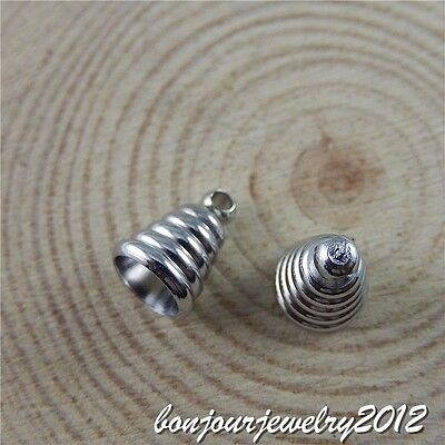 50709 Vintage Silver Alloy Screw Thread Hanging Cap Charms Pendant Jewelry 10pcs
