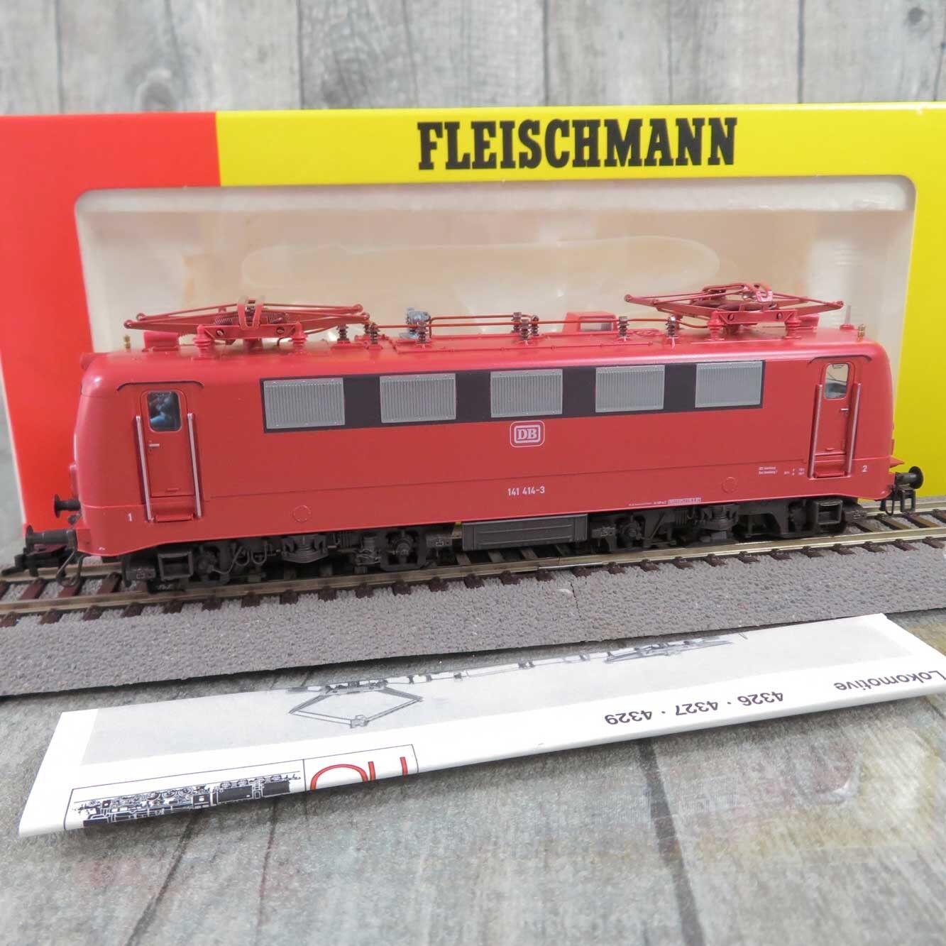 FLEISCHMANN 4327 - HO - DB - Elektrolokomotive 141 414-3 - OVP -  T27717