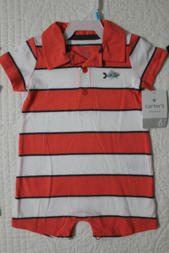 NEW CARTERS BOYS ONE PIECE ROMPER WITH COLLAR OUTFIT VARIOUS SYLES AND SIZES