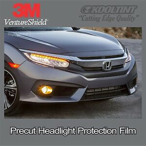 Headlight Protection Film By 3m For The 2018 Honda Civic Sedan