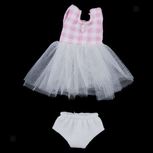 Lovely Doll Mini Sleeveless Mesh Gauze Skirt Underpants for OB 11 Girl Dolls