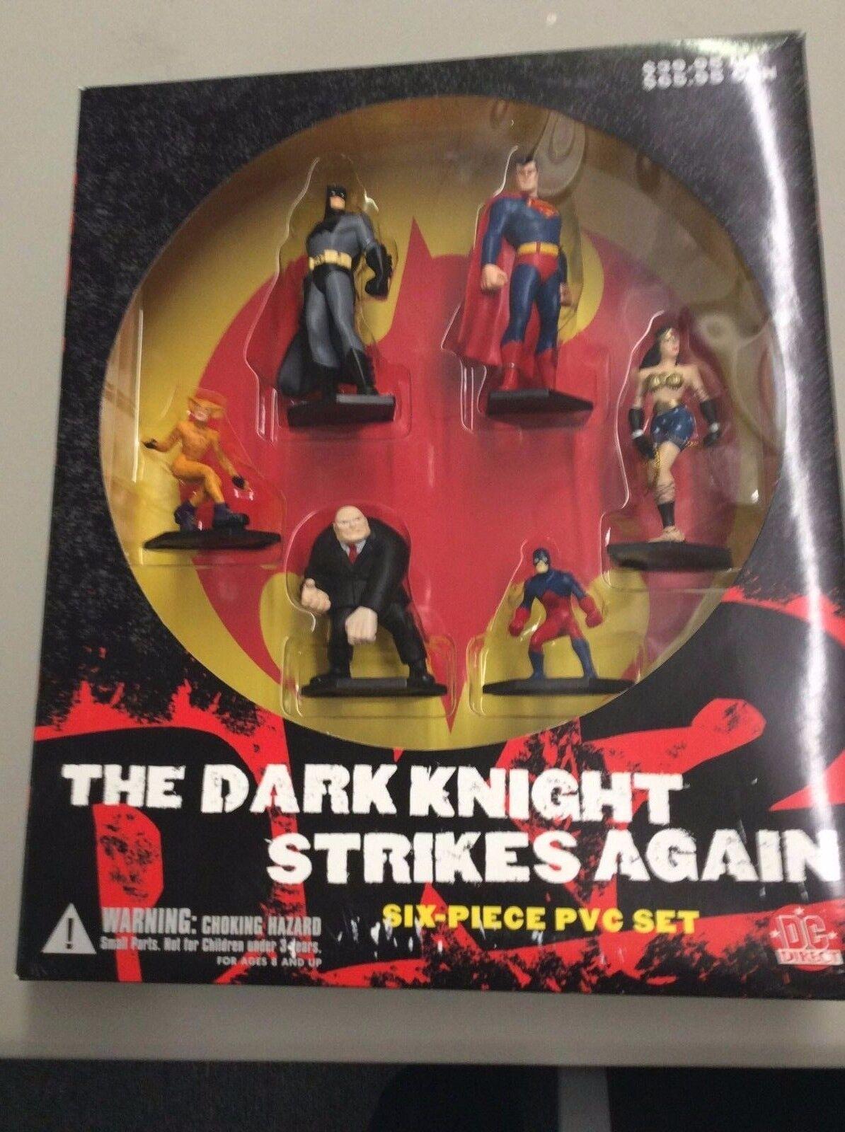 DC DIRECT THE DARK KNIGHT STRIKES AGAIN 6 PIECE PVC SET