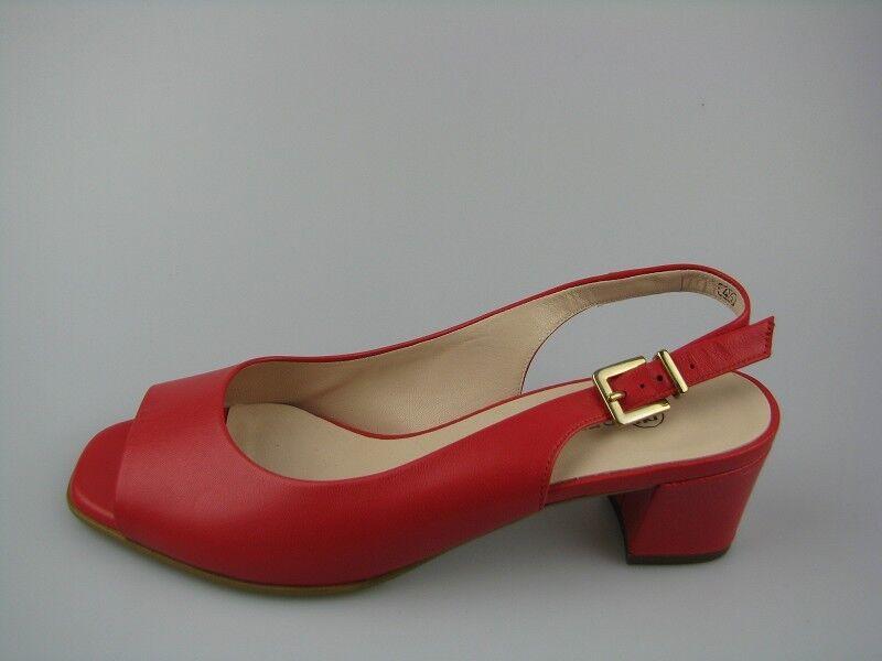 Último gran descuento Peter Kaiser GLORIA  Damen Sling/Sabot Sandale  in Coral  Leder Gr. 37,5
