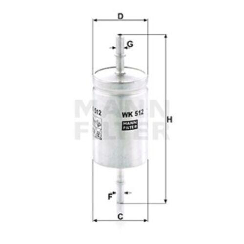MANN WK512 Filtre À Carburant INLINE hauteur 163 mm Service De Remplacement Pièce De Rechange