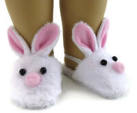 Bunny Mule Slipper Shoes Made For 18american Girl Dolls Accessories