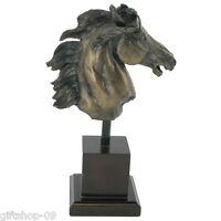 Kehilan Bust Cold Cast Bronze Horse Head Sculpture by David Geenty H23cm (06007)