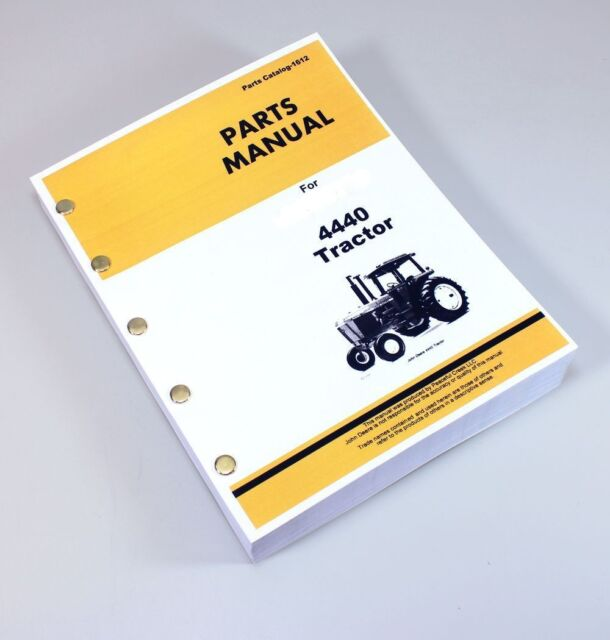 John Deere 4440 Tractors Parts Manual Catalog Assembly Exploded Views Numbers