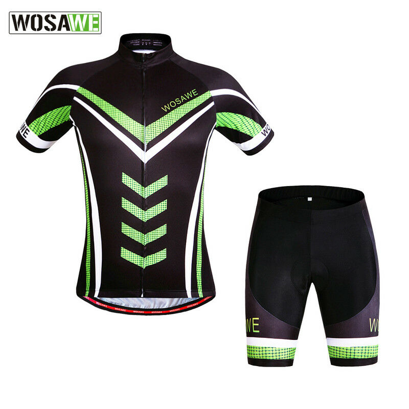 Men's Cycling Short Sleeve Jersey Shorts MTB Bike Team Suit Bicycle Breathable