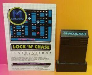 Atari-2600-Lock-N-Chase-Game-amp-Instruction-Manual-Tested-Works-Rare
