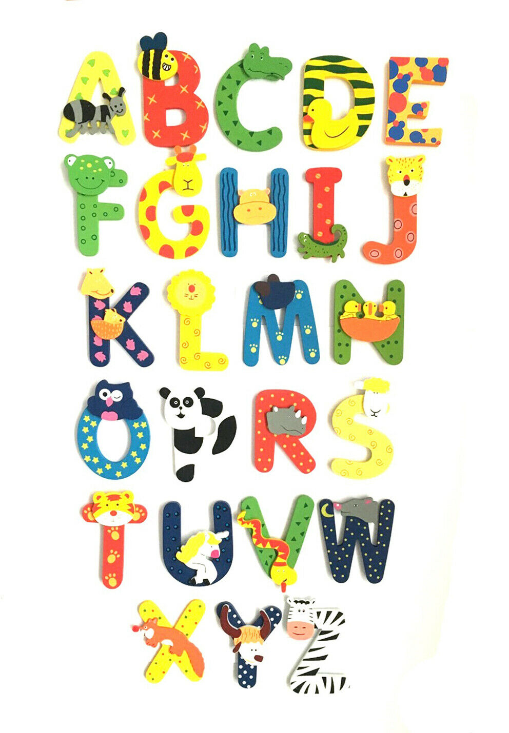Details about WOODEN JUNGLE ANIMAL ALPHABET LETTERS PERSONALISED BEDROOM  WALL DOOR NAME