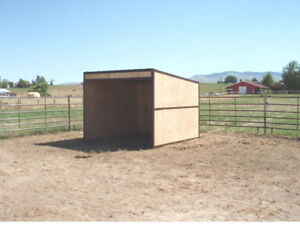 Details about Build a 12x12 Basic Horse Shed Kit