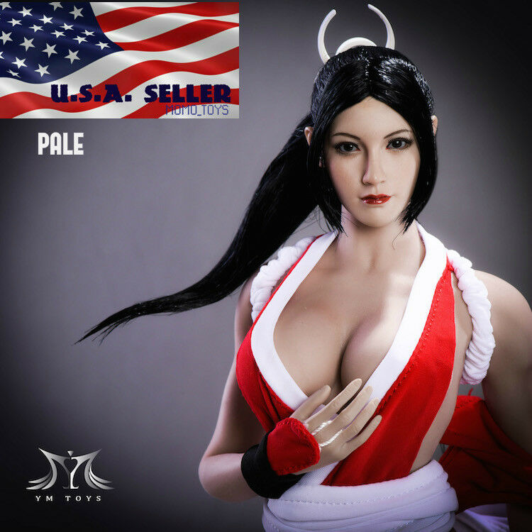 1 6 The King Of Fighters Mai Shiranui Head Sculpt PALE For PHICEN Figure ❶USA❶