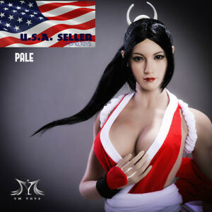 1-6-The-King-Of-Fighters-Mai-Shiranui-Head-Sculpt-PALE-For-PHICEN-Figure-USA