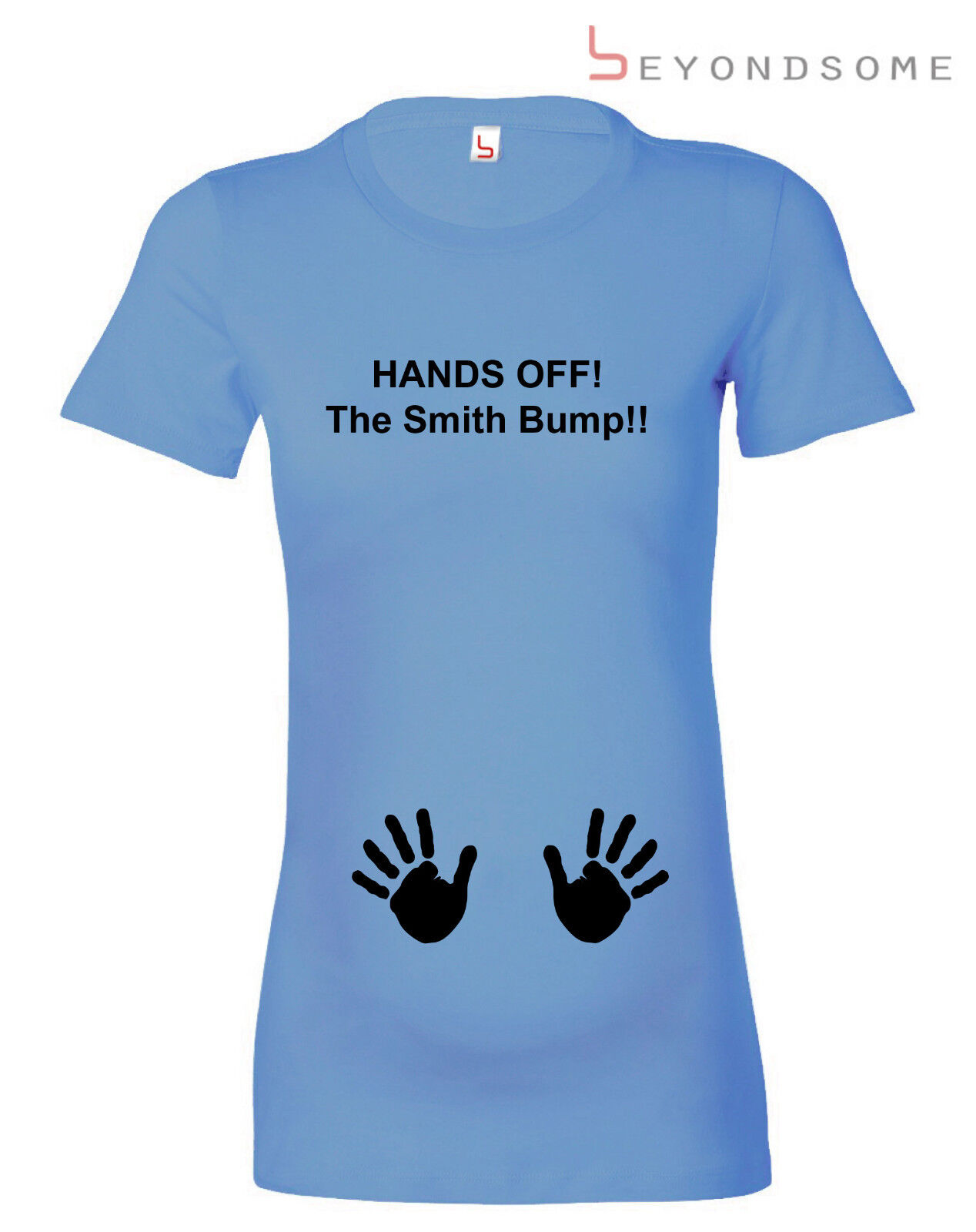 e1de9bad0 HANDS OFF THE BUMP PERSONALISED FUN MATERNITY T-SHIRT PREGNANCY TOP BABY  GIFT