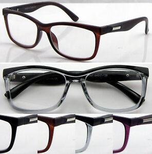 45cd24b4d7e R427 Retro Matt Eyebrow Trendy Reading Glasses Clear Lens Or Tinted ...