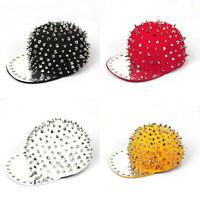 Rock Hip-hop New Rivets Spike Spiky Studded Baseball Hedgehog Cap Kid Unisex Hat
